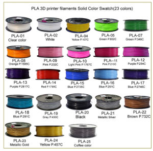 Full Color Plastic 3D Printer Filament PLA Filament for 3D Printer pictures & photos