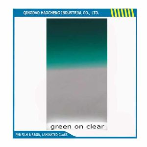 0.76mm Automotive Use Green-on-Clear PVB Film pictures & photos