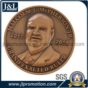 Customer Design 3D Copper Metal Coin Antique Brass Finish pictures & photos