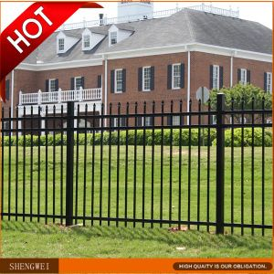 Outdoor Decorative Welded Wrought Iron Garden Fence pictures & photos