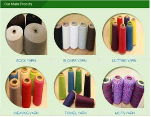 12s 14s 16s 20s Recycled Sock Cotton Polyester Blended Yarn pictures & photos
