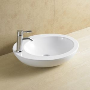 Top Mounted Single Faucet Hole Porcelain Basin 8112 pictures & photos