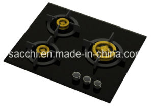 Supreme Built- in Gas Hobs with 3 Full Brass Burners (8mm glass)