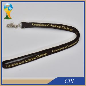 Promotion Polyester Tube Lanyard with Metal Clip pictures & photos
