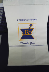 Hospital Paper Bags Prescription Rx Pharmacy Bags pictures & photos