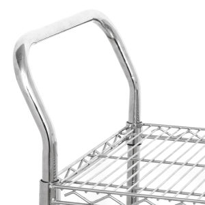Adjustable Chrome Office Metal Utility Cart pictures & photos
