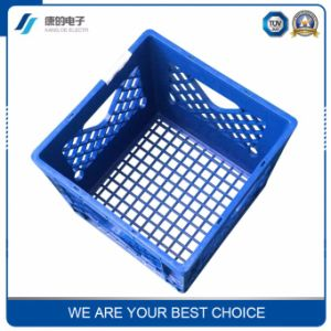 Eco-Friendly Fruit and Vegetable Bin and Stackable Small Mesh Plastic Crate pictures & photos