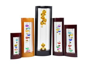 Glass Galileo Thermometer with Multi-Color Floats and Gold Tags pictures & photos