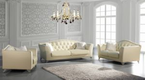 Modern Chesterfield Leather Sofa Genuine Leather for Sofa Furniture pictures & photos