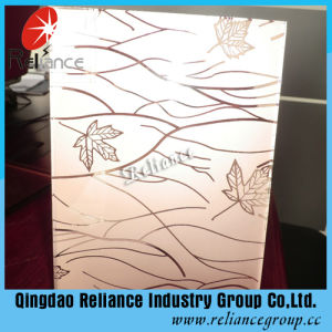 4-6processed Glass 5mm Deep Acid Etched/Pattern Glass/ Acid Etched Glass pictures & photos
