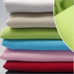 95% Cotton 5% Spandex Linen Look Slub Woven Garment Fabric