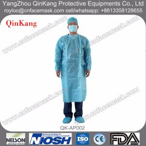 Disposable Nonwoven Elastic/Knitted Cuff Isolation Gown pictures & photos