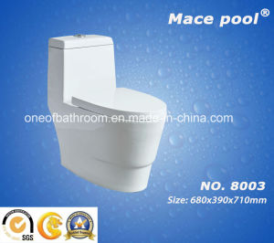 Super Siphonic Ceramic Wc One-Piece Toilet (8003) pictures & photos