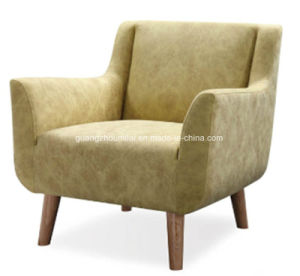 Modern Cashmere Fabric Leisure Chair with Wood Legs pictures & photos