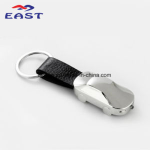 Custom Car Metal Shape Leather Key Chain (PQ-16095) pictures & photos