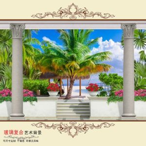 Porcelain 3D Wall Tiles in Bathroom pictures & photos