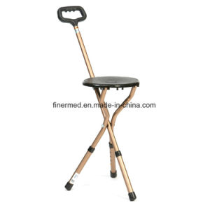 Foldable Adjustable Walking Stick Stool pictures & photos