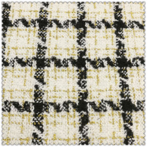 Blended Colors 100% Polyester Woolen Checks Fabric