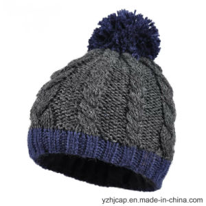 Knit Hat POM POM Knitted Hat Beanie Hat pictures & photos