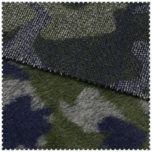 Army Green Polyester and Wool Fabric for Fashion Overcoat pictures & photos