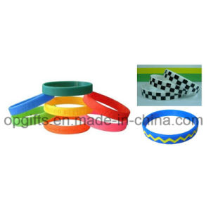 Promotional Gift Glow in Dark Silicon Wristband Hand Bracelet pictures & photos