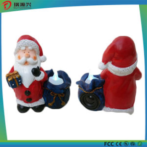 Ployresin Night Light Santa Claus Mini USB Bluetooth Speaker