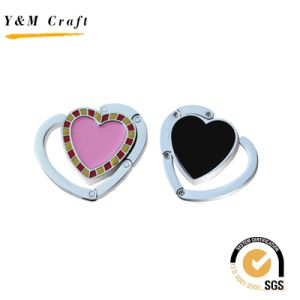 Promotion Gift Crystal Heart Stone Folding Purse Hook pictures & photos