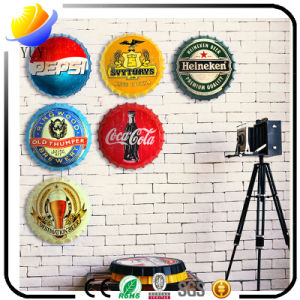 Beer Cover Decorative Creative Wall Bottle Cap Store Home Hanging Ornaments Personality Bar Wall Decorative Iron Paintings pictures & photos