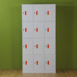 Knock Down 12 Door School Metal Storage Lockers pictures & photos