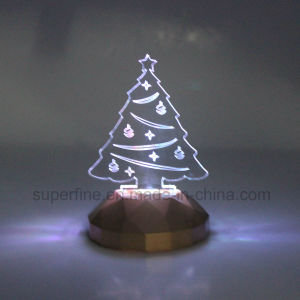 Safe Wholesale Flameless Battery Powered Plastic Multicolor Elegant Birthday Acrylic LED Light pictures & photos