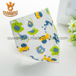 Wholesale Custom Absorbent Printed Soft Cotton Infant Triangle Drool Bandana pictures & photos