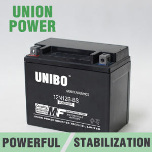 12n12b-BS 12V12ah High Quality Maintenance Free Motorcycle Battery pictures & photos