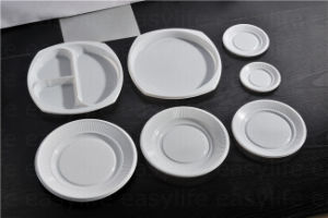Shape 5 Easylife Various Disposable PS Plastic Round Plate pictures & photos