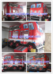 Jumping Castle Bouncer Fire Truck Inflatable Bounce House (MJA-223) pictures & photos
