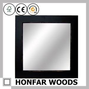 Rustic Brown Rectangle Wooden Mirror Frame Hospitality pictures & photos