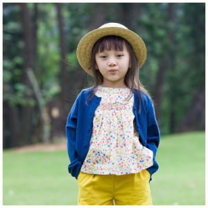 100% Wool Blue Girls Clothes for Spring/Autumn pictures & photos