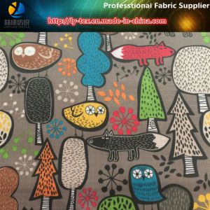 Cartoon Pattern Printed on Polyester Check Fabric for Garment/Bags pictures & photos