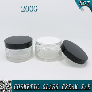 200ml Clear Empty Cosmetic Glass Container Jar 200g pictures & photos