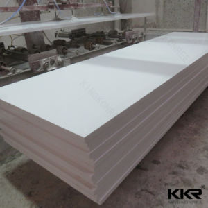 Kingkonree 12mm White Pure Acrylic Solid Surface pictures & photos