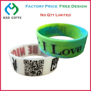 Custom 100% Silicone Bracelet/Rubber Band/Silicone Wristband pictures & photos
