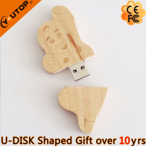 Hot Mario Wood USB Flash Stick for Sports Gift (YT-8139) pictures & photos