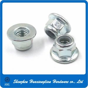 M5 M6 M8 Steel Zinc Plated Flange Nylon Lock Nut pictures & photos