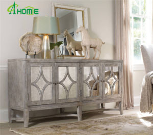 High Quality Living Room Elegant Wooden Mirrored Furniture with Drawers Cabinet pictures & photos