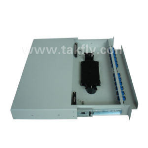 Sc/St/FC/LC 12 Ports Fiber Optic Patch Panel Optical Rack Mounted ODF pictures & photos