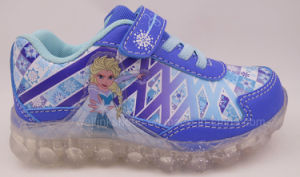 Frozen Light Sports Shoe for Girls pictures & photos