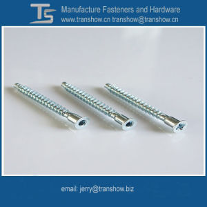 Blue Zinc Plated Hex Socket Head Furniture Screw Confirmat pictures & photos