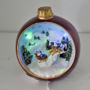 Colors Lighting Resin Apple for Christmas Gift pictures & photos