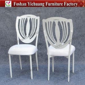 White Sta⪞ Kable Metal Used Wedding Banquet Chairs with Removable Seat Cuhion (YC-A&⪞ apdot; 78) pictures & photos