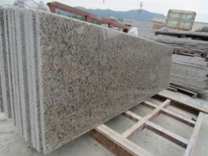 China Customized Size Polished Natural Stone Tiger Skin Red Granite Tile pictures & photos