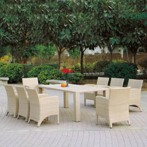 Outdoor Garden Patio Furniture Dining Balcony Rattan Aluminum Chair and Table Set pictures & photos